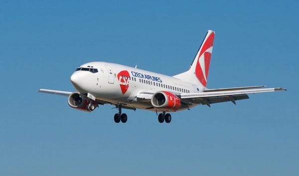 Boeing 737 w barwach Czech Airlines